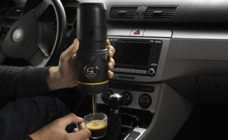 This Espresso Machine for Your Car Is a Real Thing That Exists
