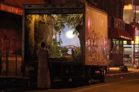 Banksy + A Delivery Truck = Mobile Garden