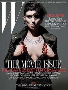 See the Girl with the Dragon Tattoo on the Cover of 'W' Magazine