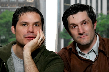 Michael Ian Black, Michael Showalter, & a Reporter Have Issues