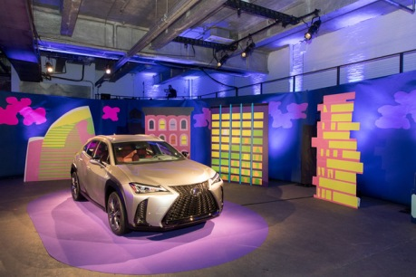 Lexus Debuts Their New UX Luxury Compact Crossover with Bold Art Installation in NYC